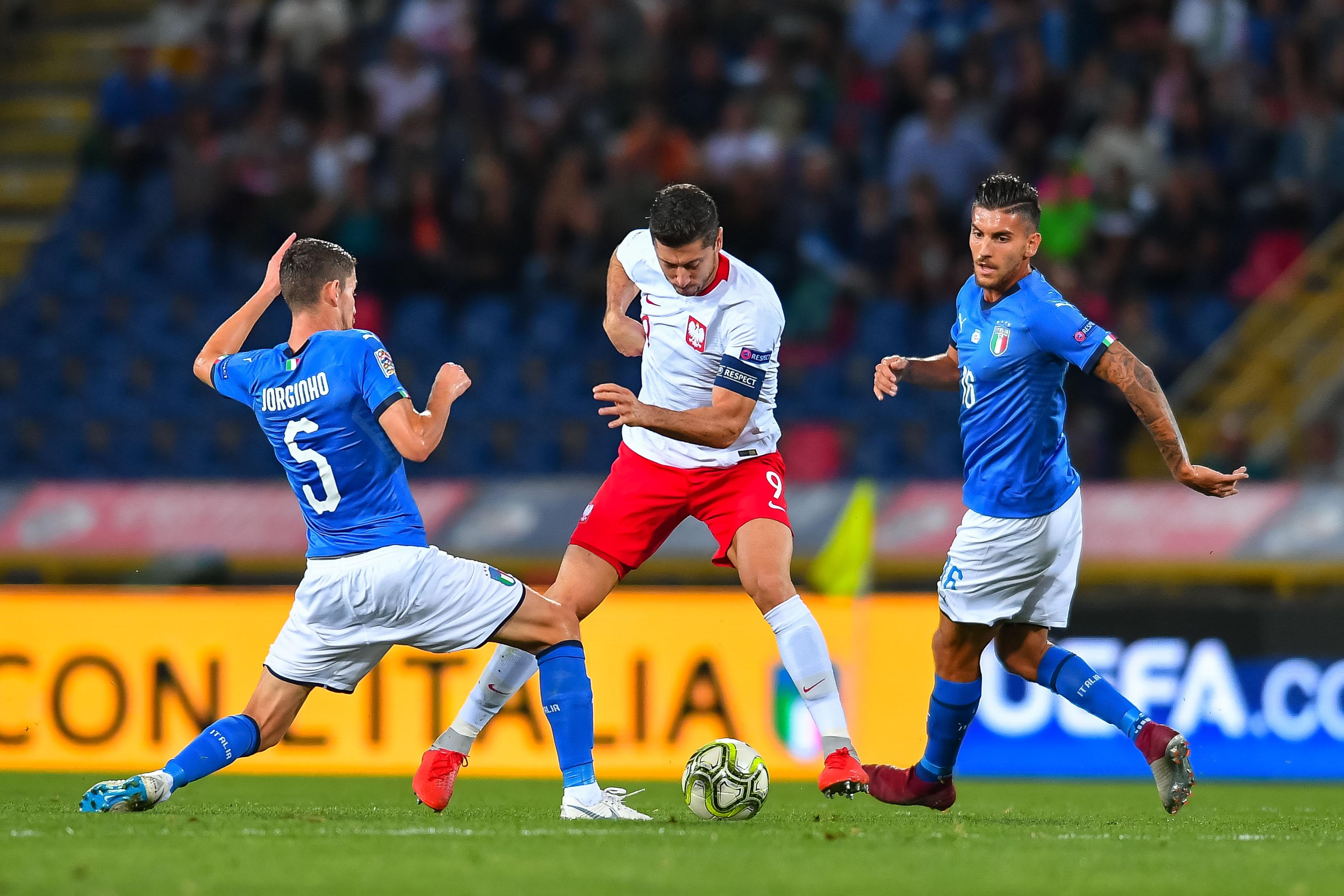 2018.09.07, Bolonia, Pilka nozna , UEFA Liga Narodow, Wlochy - Polska N/z: Robert Lewandowski, Foto Pawel Andrachiewicz / PressFocus