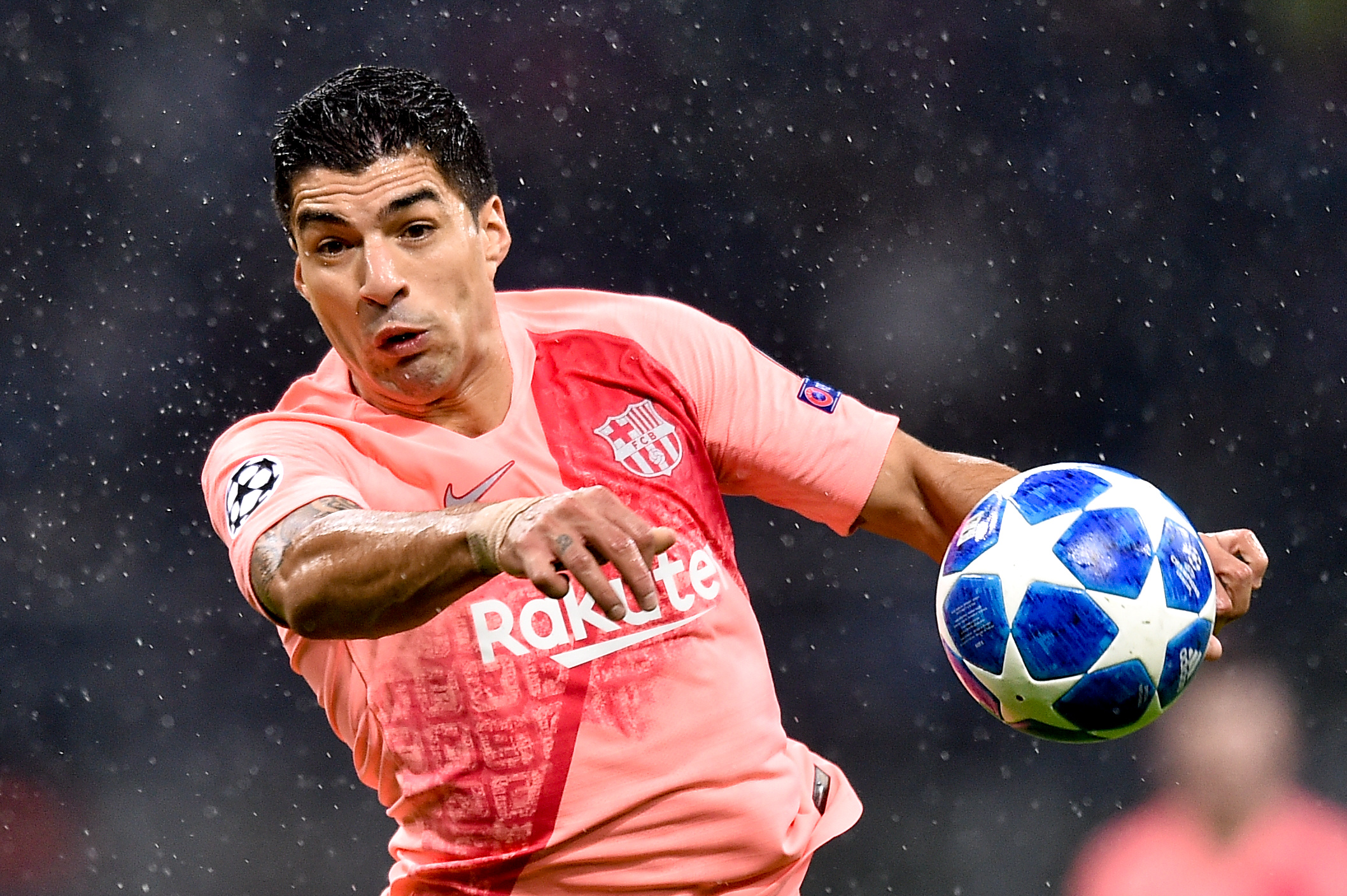 2018.11.06, Mediolan, Liga Mistrzow 2018/2019, Inter Mediolan - FC Barcelona N/z: Luis Suarez, Foto Lukasz Laskowski / PressFocus