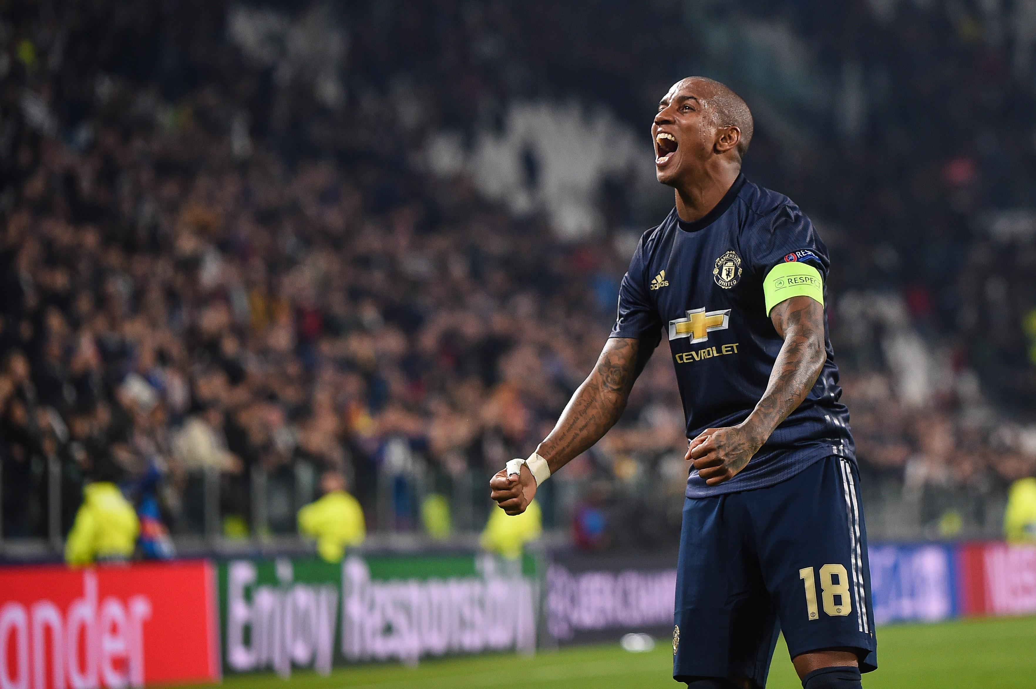 2018.11.07 Turyn, Liga Mistrzow 2018/2019, Juventus Turyn - Manchester United N/z: Ashley Young, Foto Lukasz Laskowski / PressFocus
