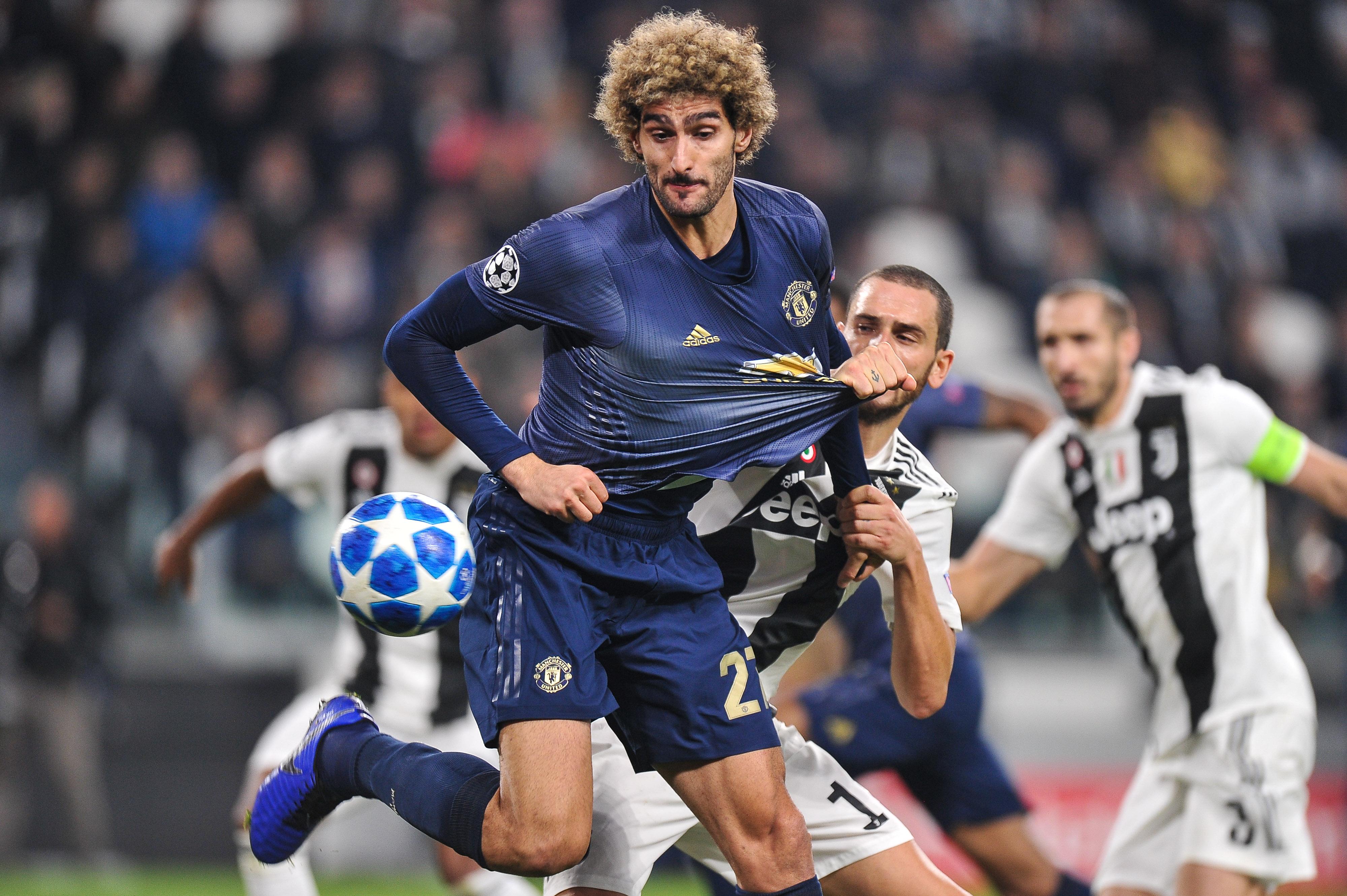 2018.11.07 Turyn, Liga Mistrzow 2018/2019, Juventus Turyn - Manchester United N/z: Marouane Fellaini, Foto Lukasz Laskowski / PressFocus