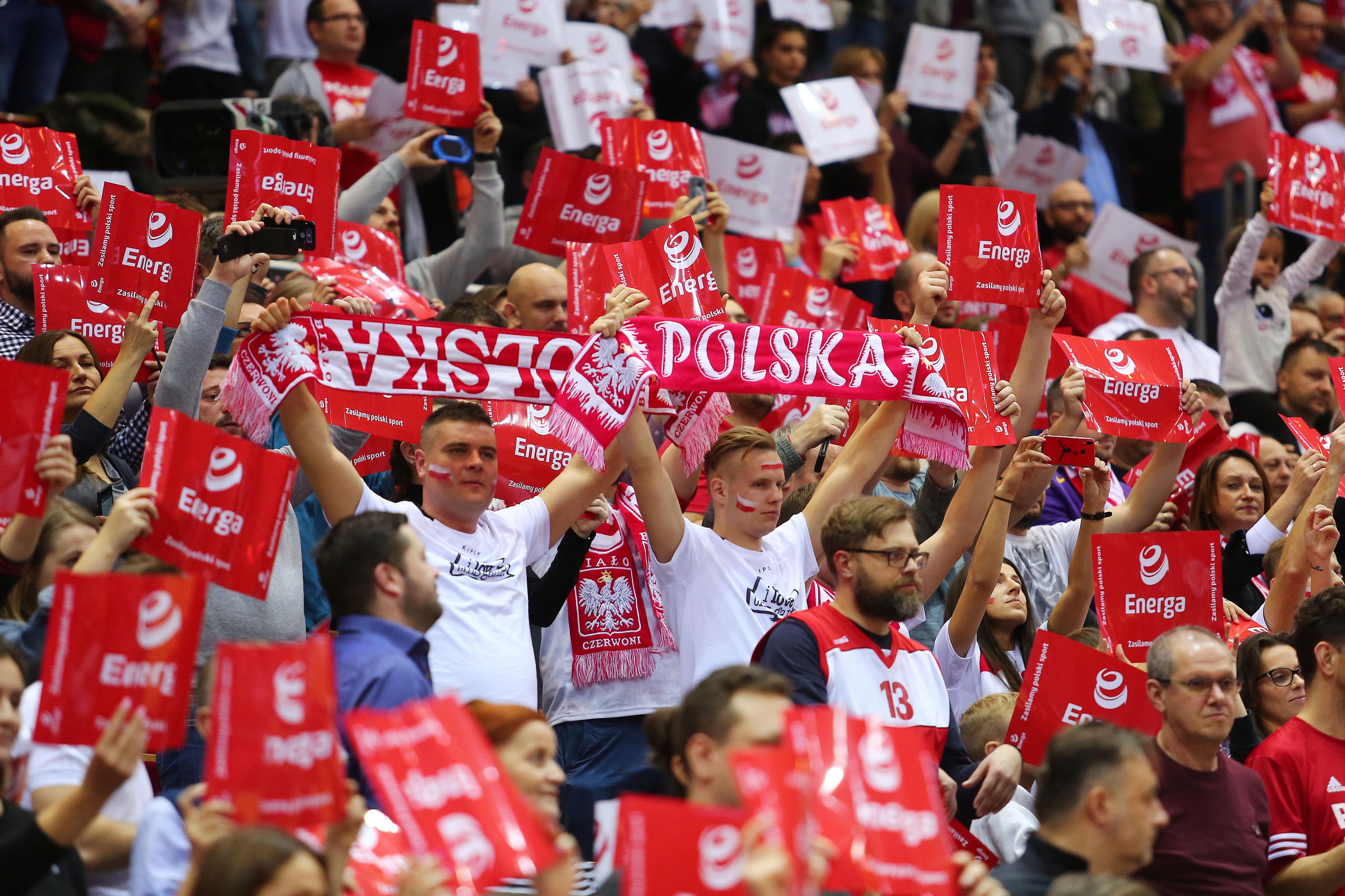 2018.12.02 Gdansk, Mecz kwalifikacyjny do Mistrzostw Swiata Chiny 2019 Polska - Wlochy N/z Kibice Fans Supporters, Foto Piotr Matusewicz / PressFocus